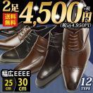 ビジネスシューズ2足セット12種類選べる福袋セール靴革靴スリッポンロングノーズローファーフォーマルUチップ外羽内羽幅広4EEEEメンズ組み