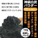 微粉炭パウダー 10ミクロン お試し 食用 食品添加物 花粉症 神鍋BLACK 炭ジュース ダイエット