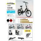 数量限定★36v版リチウムバッテリー搭載!折りたたみモペット版電動自転車IDATEN軽風20インチ