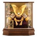 五月人形 久月 兜ケース飾り 六角  オルゴール付 h265-k-k112-2