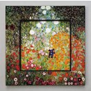 ビッグアート 名画ハイグロスシリーズ クリムト 「フラワーガーデン」/絵画 壁掛け 壁飾り インテリア 油絵 花 アートパネル ポスター 絵 額入り リビング 玄関