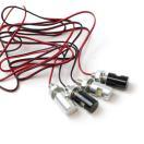 LEDナンバー灯 M6ボルト (シルバー/ブラッ...