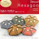 Steal スティール Hexagon ヘキサゴン コインケース 小銭入れ メンズ・レディース イタリアンレザー フリゾネ 手縫い 革婚式クリスマス
