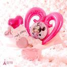 バルーン 電報 誕生日 結婚式 発表会 出産祝い 結婚祝い プレゼント ディズニー・ミニー ピンク バルーン・