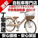 自転車 子供用自転車 20インチ VP20 ライト 藤風バスケットキャリア付