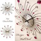 クールなデザインの壁掛け時計♪...