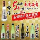 日本酒ギフト 送料無料 ワイングラスでおいしい日本酒アワード金賞受賞5本オリジナル 飲み比べ セット 大吟醸4本入り gift sake