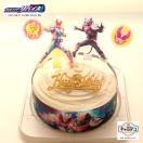 ボンブ(ドーム型)ケーキ/仮面ライダーエグゼイド5号/生クリーム