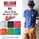 Tシャツ BILLVAN ポケット付きオールドスクールロゴ ヘビーTシャツ 290106 ビルバン メンズ アメカジ