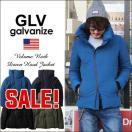 GLV/galvanize ガルバナイズ 斜めZIP ヴォリュームネック リアルダウンジャケット メンズ アメカジ 送料無料