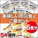 非常食セット 美味しい防災食+アルファ米白飯×6食(保存食 おかず 白米)
