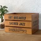 木箱 アンティーク 収納 ストッカー 木製 フリーボックスNo.4大ダークブラウン BREA