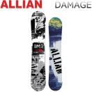 17-18 ALLIAN/アライアン DAMAGE ダメージ メンズ レディース 板 スノーボード 予約商品 2018