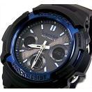 CASIO/G-SHOCK カシオ / Gショック ソーラー電波腕時計 アナデジモデル ブラック×ブルー(海外モデル)AWG-M100A-1A