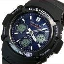 CASIO / G-SHOCK カシオ / Gショック ソーラー電波腕時計 メンズ ブラック/ネイビー 海外モデル AWG-M100SB-2A