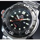 ORIENT M-FORCE オリエント エムフォース ダイバーズウォッチ メンズ腕時計 自動巻 ブラック文字盤 メタルベルト MADE IN JAPAN 海外モデル  SEL06001B0