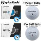 テーラーメイド TP5、TP5X 5ピース ゴルフボール 1ダース(12球入) [TaylorMade TP5、TP5X 5-PIECE GOLF BALL] USモデル