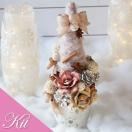 プリザーブドフラワー キット と ギフト から選べる クリスマスツリー 花材 ドライフラワー 天然素材