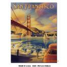 アメリカンブリキ看板 サンフランシスコのゴールデンゲートブリッジのトラベルポスター アメリカ雑貨 アメリカン雑貨 サインプレート ティンサインボード