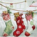 Ambiente オランダ ペーパーナプキン クリスマスストッキング Christmas Stockings 33304565 バラ売り2枚1セット デコパージュ ドリパージュ