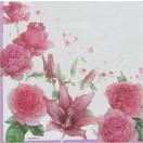 作品販売可 FRONTIA フロンティア ペーパーナプキン 紫のバラと百合 バラ売り2枚1セット デコパージュ ドリパージュ
