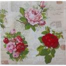 【少量入荷】1枚バラ売りペーパーナプキン Maki ポーランド English roses SLOG-037101 デコパージュ ドリパージュ
