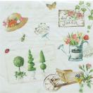 イタリア Easy Life 旧NUOVA R2S社 ペーパーナプキン Lunch napkins ガーデニング Gardening バラ売り2枚1セット 414-GARD デコパージュ ドリパージュ
