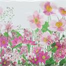 Paper+Design ドイツ ペーパーナプキン ピンク色の牧草地 Pink meadow バラ売り2枚1セット L-200241 デコパージュ ドリパージュ