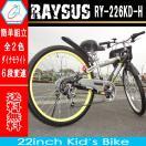 自転車 自転車 22インチ マウンテンバイク レイサス RY-226KD-H 子ども用