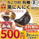 黒にんにく お試し ちこり村有機 20片 送料無料 黒ニンニク 発酵黒にんにく 黒大蒜 有機栽培 オーガニック