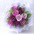 ソープフラワー花束 紫 エンジェル 中