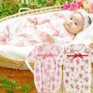 【5400円以上購入で送料無料】*スウィートガール*ローズお花柄新生児ツーウェイオール