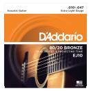 D'Addario EJ10 Bronze Extra Light アコー...