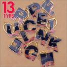 Ron Herman(ロンハーマン)  Alphabet Key Ring TYPE1 (キーリング)(キーホルダー)  NAVYxGOLD 278-000424-001+【新品】(グッズ)