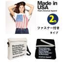 AMERICAN APPAREL  アメリカンアパレル トートバッグ ストラップ バッグ ジッパー付き  シティバッグ