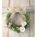 玄関ドアに飾るマーガレットのウェルカムリース♪Marguerite des pres blancマルグリット-ホワイト