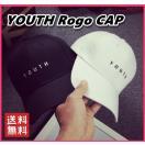 レディース キャップ 帽子 シンプル YOUTH ロゴ 韓国 ファッション カーブキャップ シンプル
