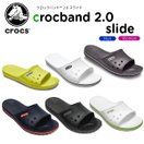 クロックス(crocs) クロックバンド 2.0 スライド(crocband 2.0 slide) /メンズ/レディース/男性用/女性用/サンダル/シューズ/[r]