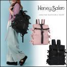 ハニーサロン Honey Salon サイドレースアップリュック リュック レディース 大容量 かわいい バックパック ピンク 黒 HoneySalon FHB-1120