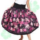 フラダンス衣装 JA5793 フラ ダブル ブラック×ピンク スカート フラ 衣装 パウスカートショップ ドレス かわいい