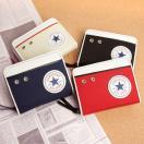 財布 メンズ レディース 二つ折り財布 ラウンドファスナー コンバース オールスター CONVERSE チャックテイラー おしゃれ カード入れ 小銭入れあり