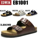 エドウィン サンダル メンズ ビルケン コンフォート EDWIN EB1001 ブラック ダークブラウン ネイビー ホワイト