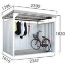 【ダイマツ×環境生活】自転車置き場 ダイマツ多目的万能物置 DM-10壁面パネルロング型  ※お客様組立品 送料無料