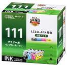 オーム電機 01-4186 ブラザー LC111−4PK互換(4色パック) INK...