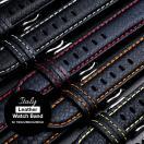 EMPIRE 腕時計 ベルト 時計ベルト バンド 革 イタリアンレザー カーボン 選べる6色 18mm 20mm 22mm ワンタッチで簡単装着 イージークリック