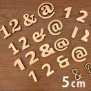 自社工房木製切り抜き文字(数字・記号)5cm 厚さ約6mm【クロネコDM便対応】