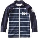 ヘリーハンセン(HELLYHANSEN)キッズロングスリーブフルジップボーダーラッシュガードKL/SFULL-ZIPBORヘリーブルーHJ81800子供日焼け防止