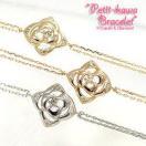 ダイヤブレスレット/K10ゴールド ホワイトゴールド ピンクゴールド イエローゴールド ブレス フラワー レディース