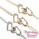 ダイヤモンドブレスレット K10ゴールド ホワイトゴールド ピンクゴールド イエローゴールド ブレス ハート レディース