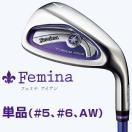 2015モデルYAMAHA(ヤマハ)日本正規品Femina(フェミナ)レディスアイアンTX-415i IVカーボンシャフト単品(#5、#6、AW)